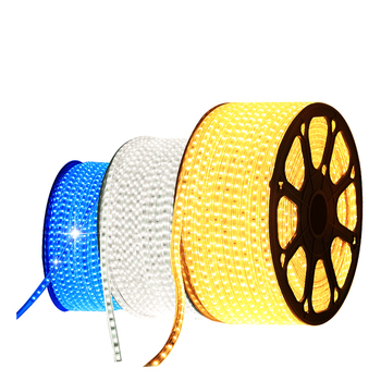 220V 110V LED Strip 5050 50m 100m roll IP67 Waterproof RGB Dual Color Rope lighting