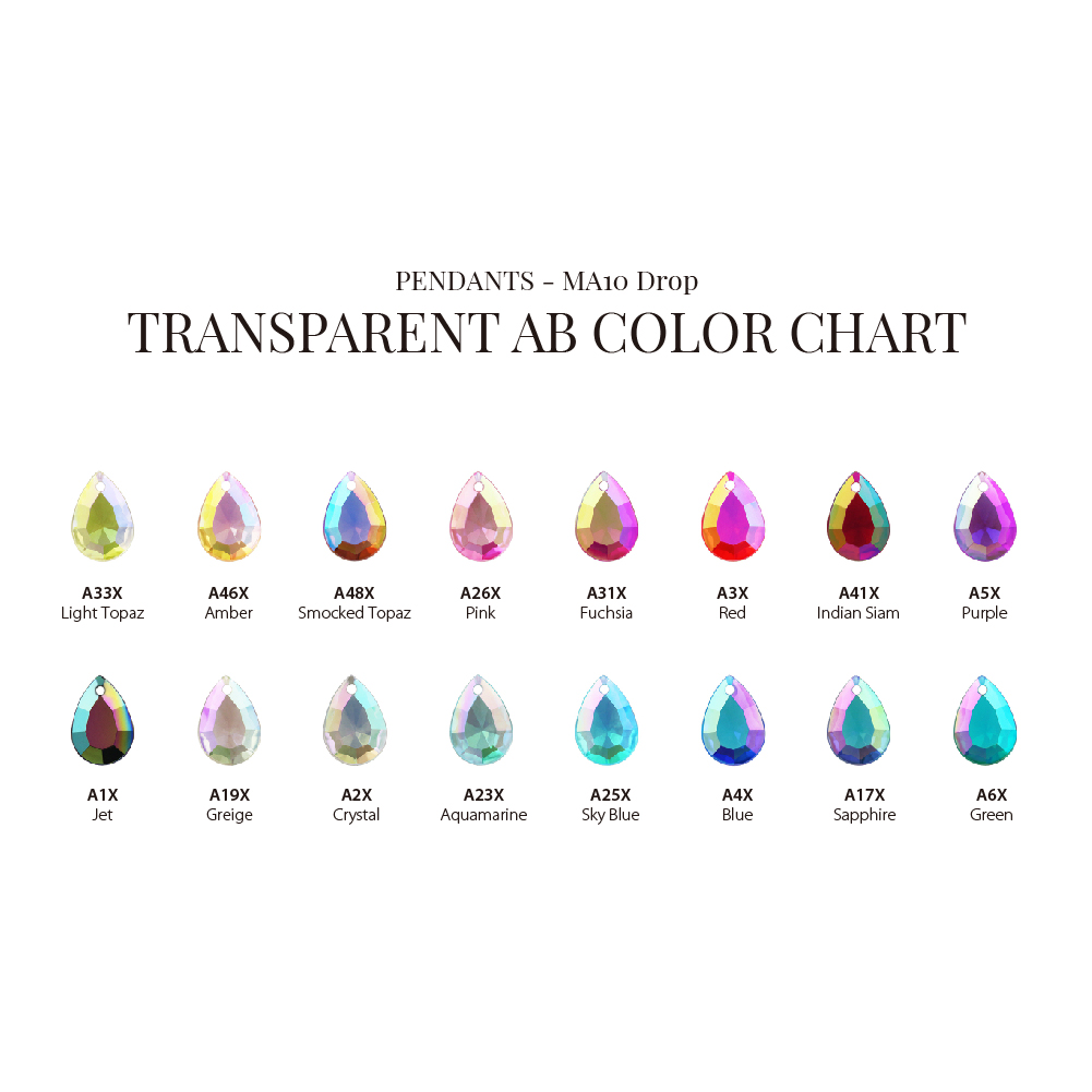 Made in Taiwan New Pendant Design Drop Tear Shape 11mm 14mm AB Rainbow Colors Accessories