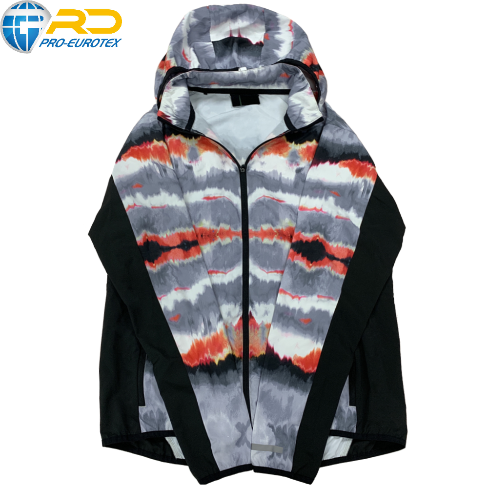 Contrast pattern sports jacket for women