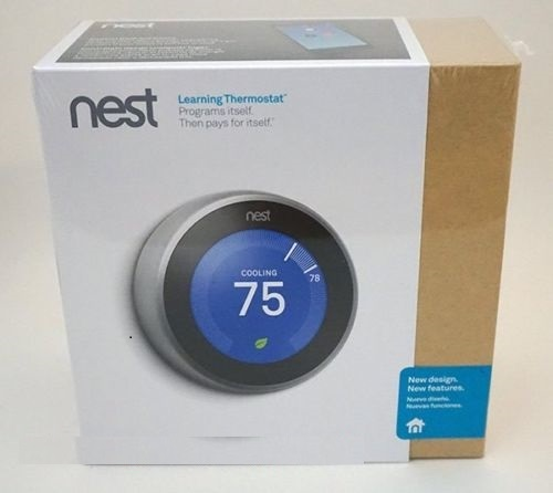 New SEALED-Nest Lernen Thermostat 3rd Generation