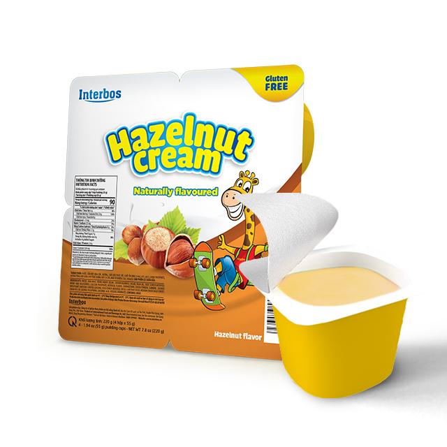 Best price Premium Quality Delicious Bulk Milk Cream 55 gram with Hazelnut flavor, cream and cream