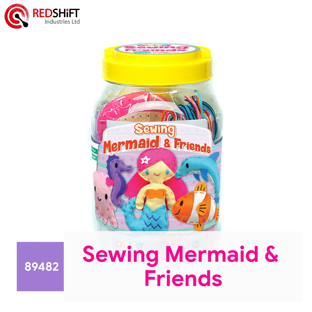 Naaien Mermaid Kunst En Ambacht Custom Pluche Pop Mega Craft Jar Giant Pack Amazon Fba Jar Kids Diy Educatief speelgoed Kit