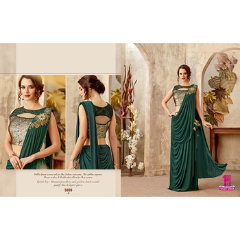 Luxuries Design Reception Party Wear Wedding Saree made from Sequin Net
