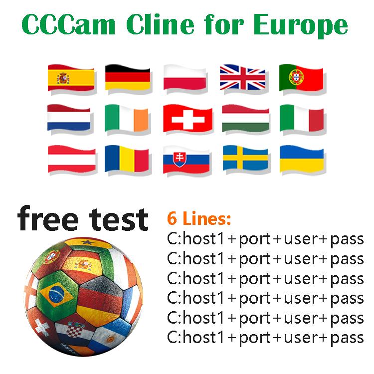 Best CCCam Cline for Europe Spain Germany Poland Portugal UK Astra Satellite TV 6 lines Oscam Cccam
