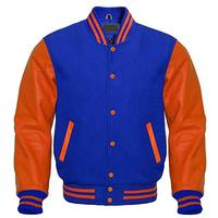 high quality 100% woolen body mens baseball/letterman PU sleeves varsity jacket