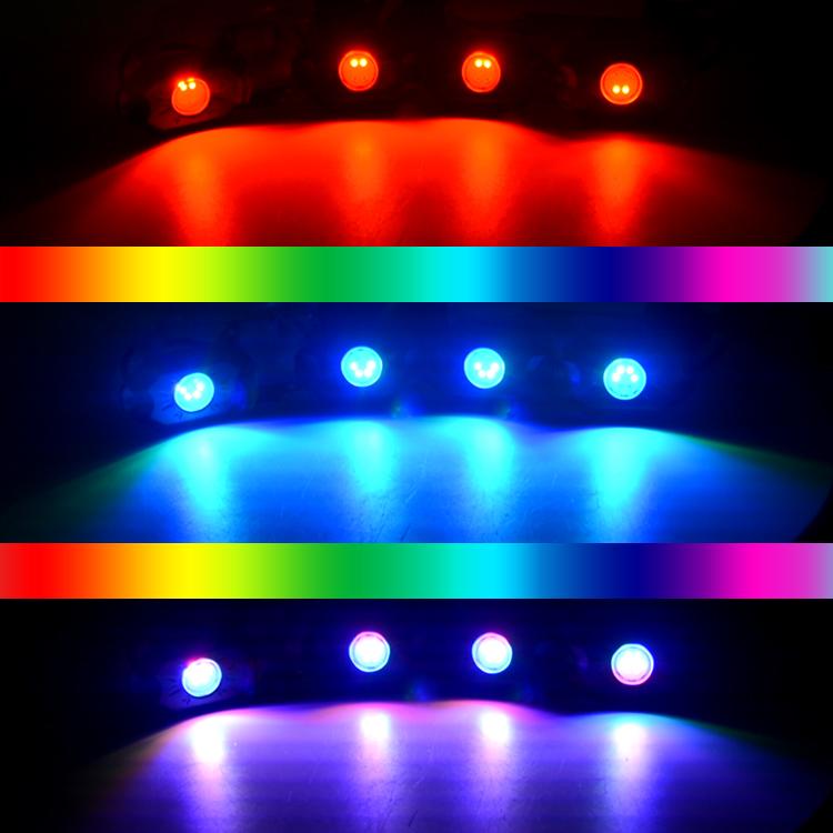 """2 """"RGB một điều khiển 4 pcs 6 chip led đá ánh sáng Với bluetooth Điều Khiển âm nhạc"""
