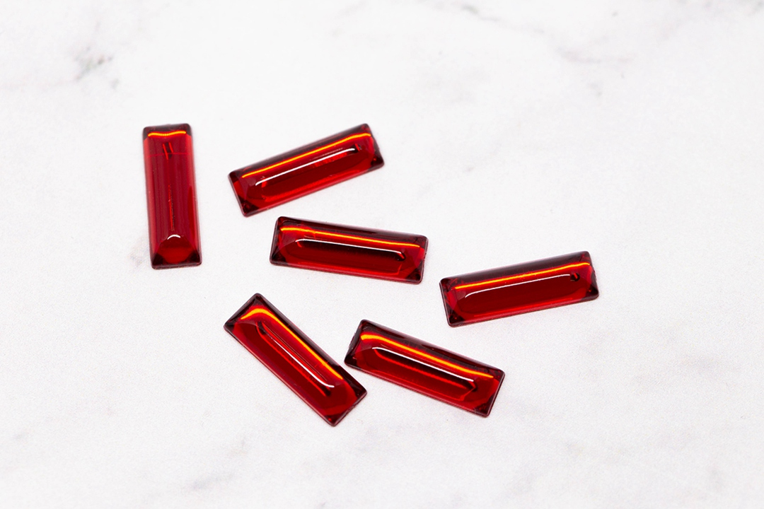 SUNMEI Pabrik Langsung Grosir Harga Baguette Berbentuk 6x18mm 7x21mm 8x24mm Flat kembali Plastik Rhinestones DIY Bahan
