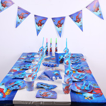 Spiderman Kids Birthday Thema Feestartikelen Set Party <span class=keywords><strong>Decoraties</strong></span>