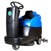 blue colour mini compact cleaning equipment battery power commercial ride on floor scrubber for workshop factory warehouse