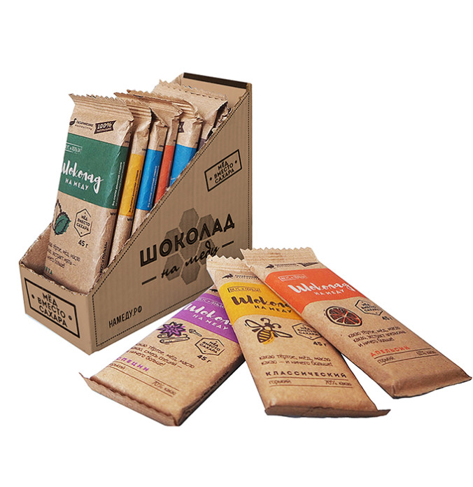 HOT SALE / PRIVATE LABEL / Honey Sweetened Chocolate Bars with natural ingredients