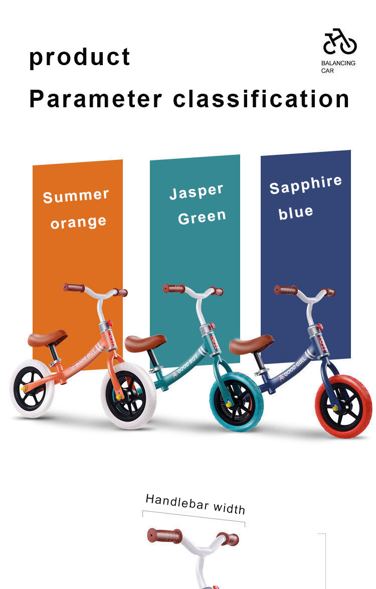 Eco-friendly kid biicycle with height adjustable kids balance bike for 2-6 years child
