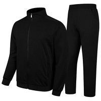 Men Fleece Outdoor Jogging Running and Training Polyester Cotton Track Suit