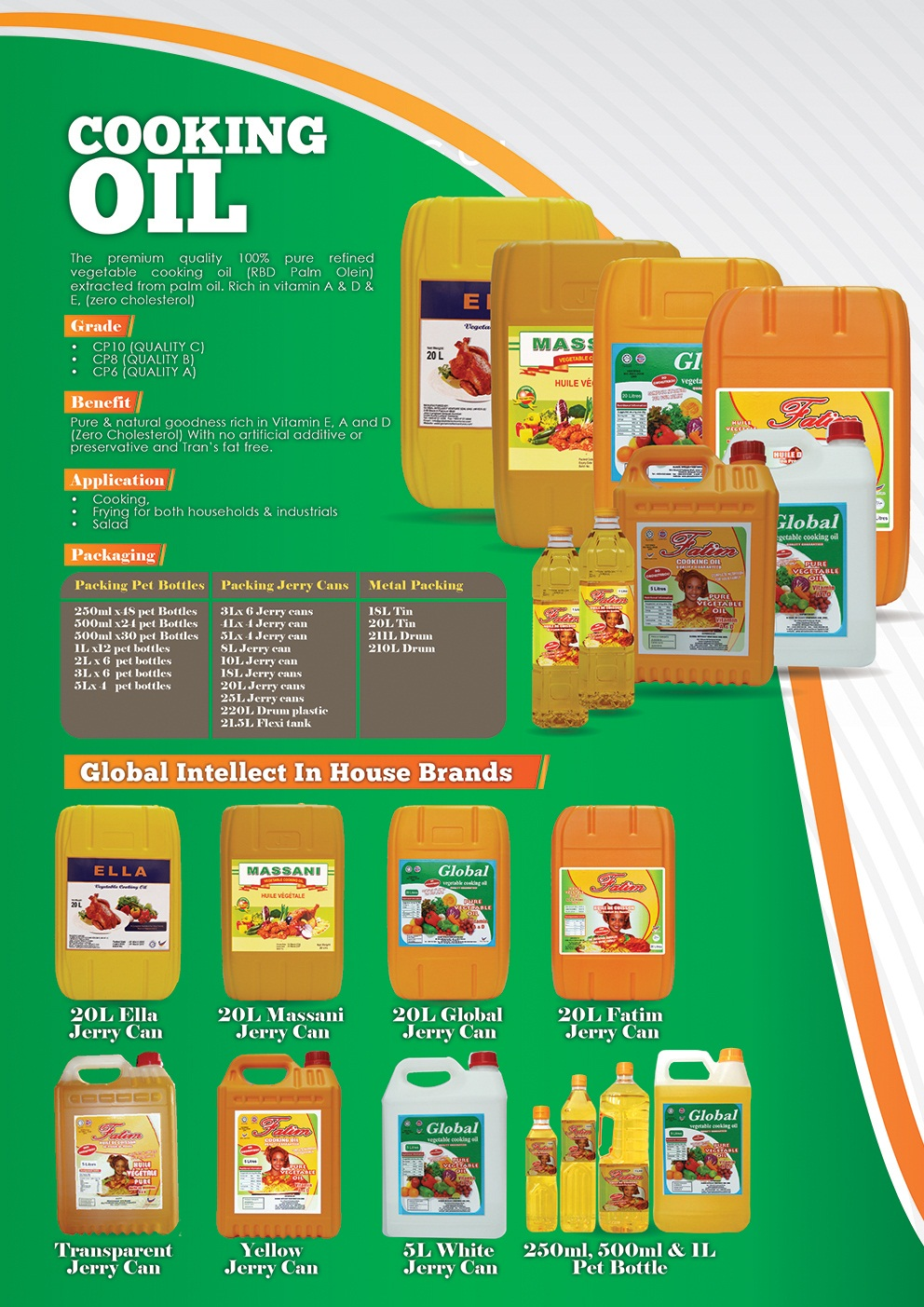 catolouge cooking oil