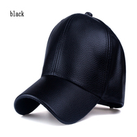 Pakistan Mens Leather Baseball Caps Winter Warm Hats with easy Adjust