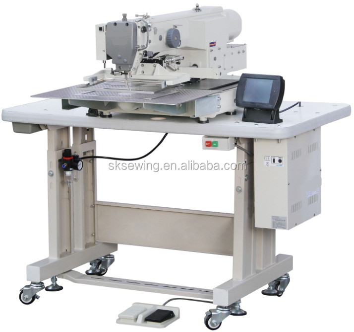 Automatic lock stitch computer pattern industrial sewing machine for garment