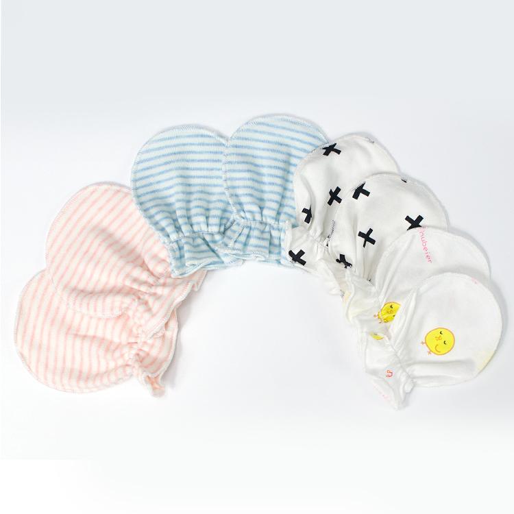 Hot sale organic cotton soft newborn baby anti scratch mittens for babies