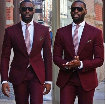 Casual Style Big Lapel Men Suits Wedding Tuxedos For Men Groom Costume Home Best Man Suit (Jacket+Pants)