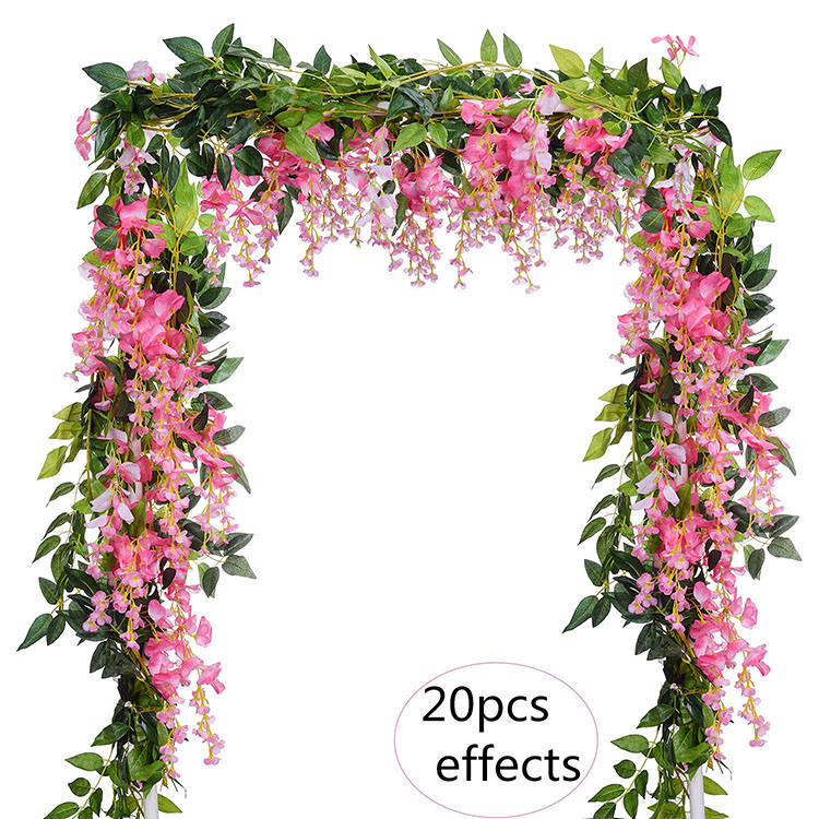 Nicro 6Ft/Piece Wisteria Garland Artificial Decorative <strong>Flowers</strong> For Wedding Home Baby Shower Decoration