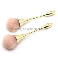 high quality rose gold makeup brushes with lady nylon hair 10pcs cosmetic brush set