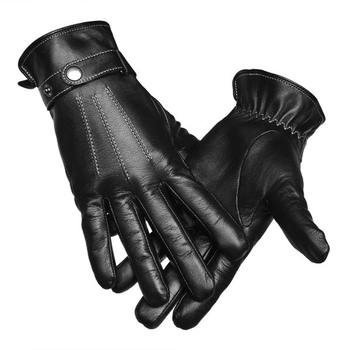 Mens Thick Fashion Wholesale Goat Skin Sheepskin Car Driving Leather Gloves for Winter
