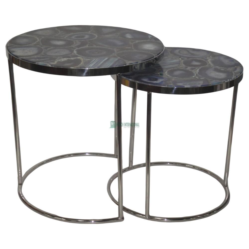 Marmor Top Designer Runde Gold Kaffee Tische-Elegante Luxus Metall Seite/Center Tisch-Weiß Großhandel-Multi zweck Tische