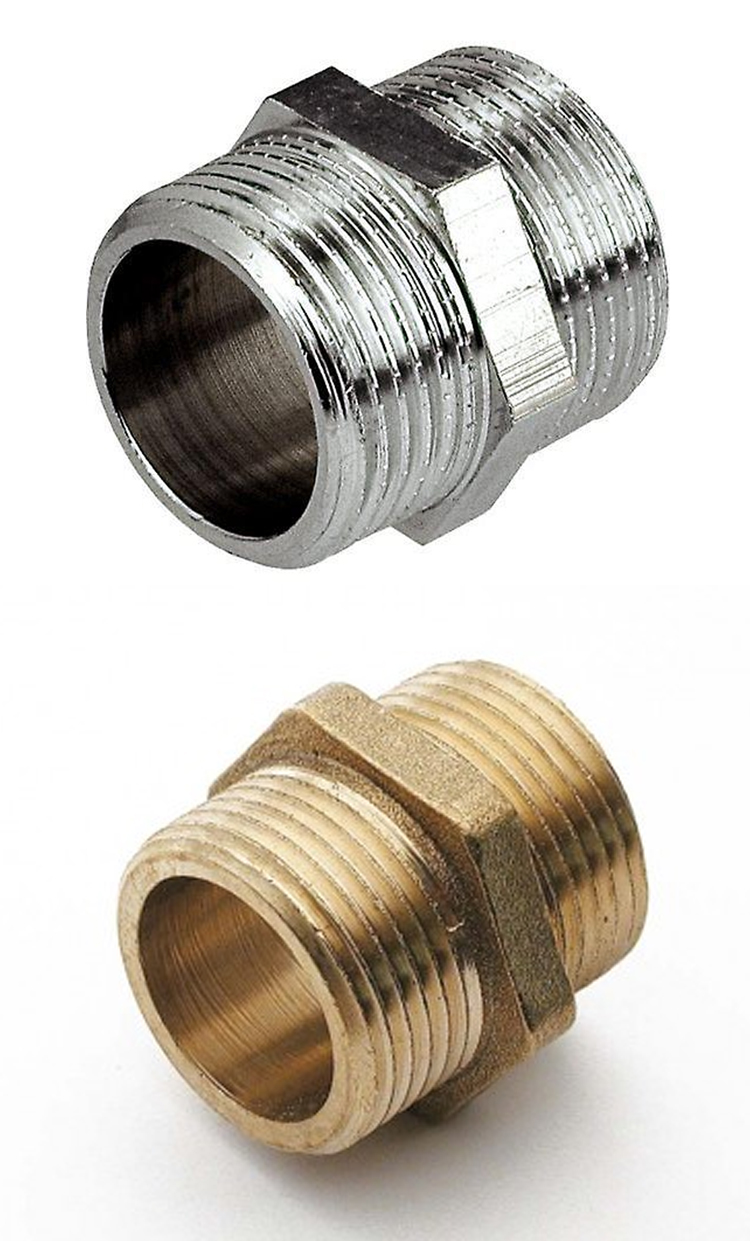 Top Exporter of Pipe Fittings Use Brass Hexagon Male Thread Nipple for Global Purchase