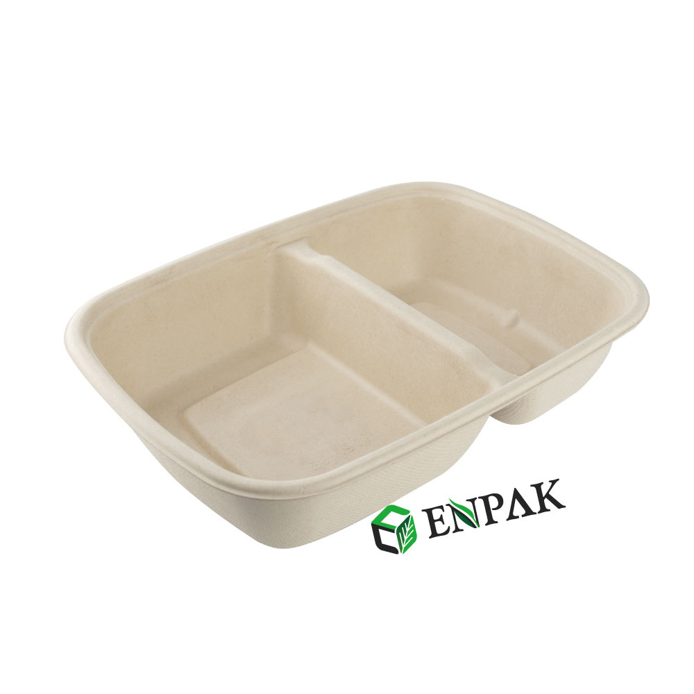 Compostable Plates Different Size three compartment serving tray