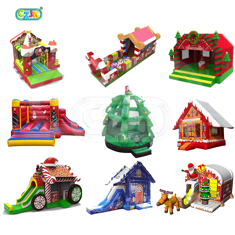 inflatable tree christmas bouncer jumping bouncy castle bounce house