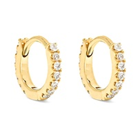 Solid gold fine jewelry wholesale 2 gram gold beautiful designed huggie earrings