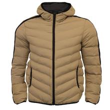 ใหม่แฟชั่น Mens Hooded Quilted Padded Winter Puffer Bubble Jacket Coat