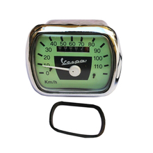 SPEEDOMETER ASSEMBLY 110 KMH สีเขียว-BLACK FACE STAIN STEEL สำหรับ VESPA <span class=keywords><strong>VM</strong></span>/VN/VL/ACMA