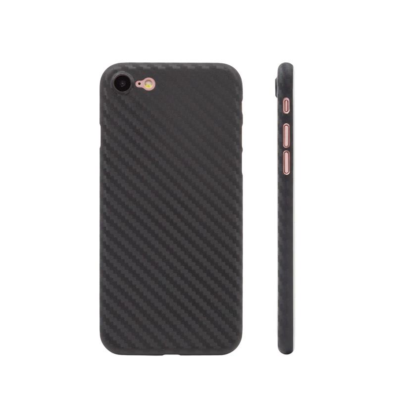 Rekabetçi fiyat en kaliteli dövme karbon fiber iPhone durumda ücretsiz örnek dayanıklı iPhone SE için cep telefonu arka kapak