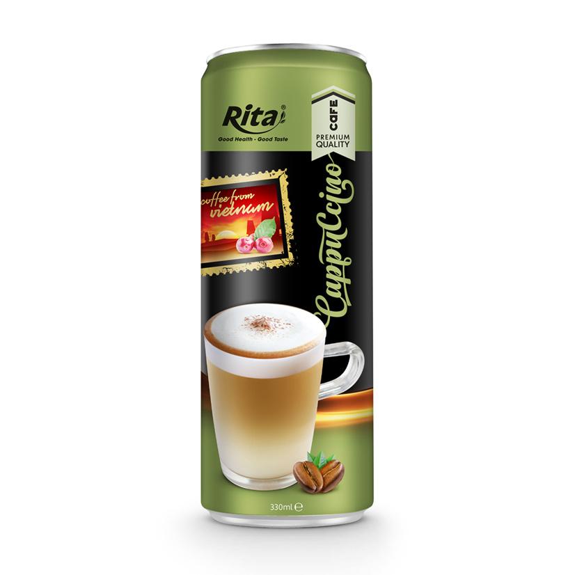330ml Premium Quality Latte Coffee Drink in can by Rita Beverage Vietnam