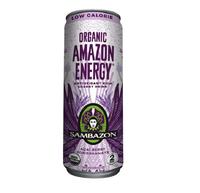 Amazon Energy Drink Flavor Acai Berry and Pomegranate USA Low Calorie Energy Drinks
