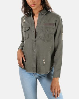 Customized fashion  women  denim jacket
