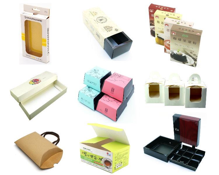 대만 머리 그물 소매 포장 사용자 정의 광택 종이 상자