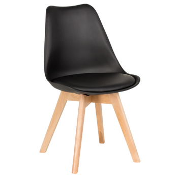 Miraculous Dining Banquet Restaurant Home Modern Chair In Flexible Polypropylene With Wooden Legs Carmen 9958 Black White Buy Dining Chair Home Andrewgaddart Wooden Chair Designs For Living Room Andrewgaddartcom