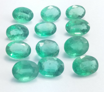Natural Emerald Zambia Attractive Quality Collection Of Top Rich Green Excellent Oval Cut Lustrous Untreated Gemstone