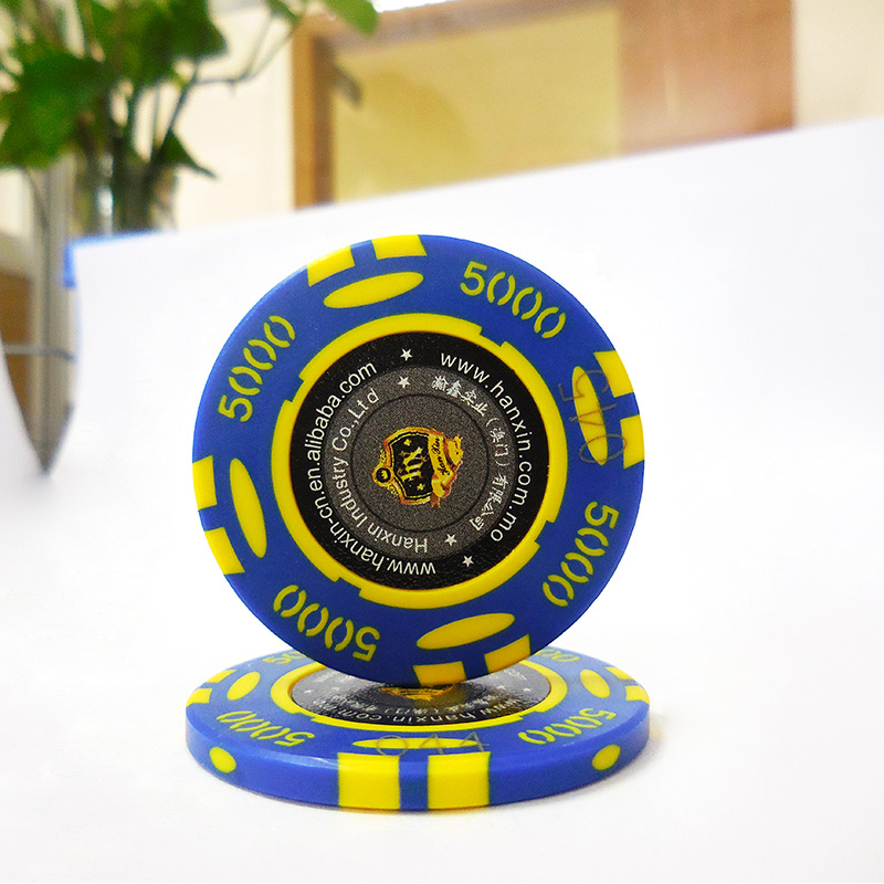 Intrattenimento accessorio di gioco casino poker chip di 12.5g