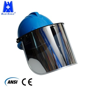 Ratchet tyle safety helmet with chin strap