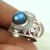 Imperious blue labradorite solid silver ring wholesale india handmade 925 sterling silver rings gemstone jewelry