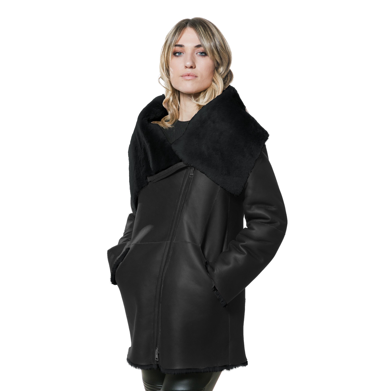 Großhandel 2015 Damen Winterjacken Und Mäntel Pelzkragen Damen Winterjacke Damen Mantel Weiblich PU Leder Parka Frauen Plus Size Schwarz Von