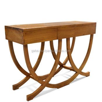 Console Table Art Deco Style Teak Wood