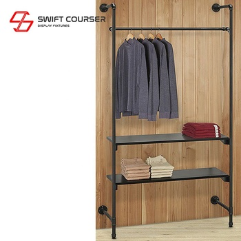 Metal apparel shop wall hanging fixtures display