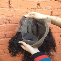 Raw curly Front lace wig