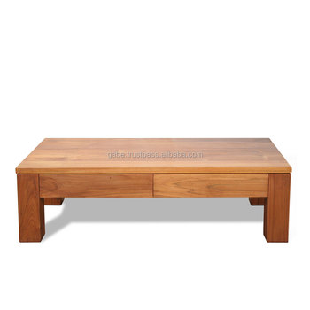 Strange Zen Coffee Table Minimalist Style With 2 Drawers Front Side Solid Wood Teak Natural Color Buy Coffee Table Minimalist Coffe Table Wooden Coffee Machost Co Dining Chair Design Ideas Machostcouk