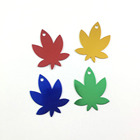 Custom Logo Colorful Maple Leaf Aluminum Metal Pet Dog Cat Id Tag