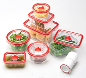 2 shapes airtight food storage container 7pcs set