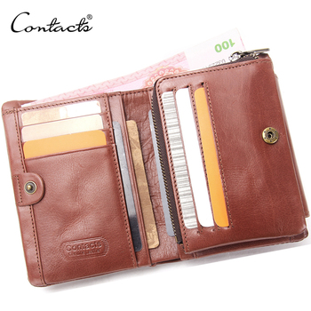 Bifold Wallet Multi Mini Genuine Leather Purse Money Clip Minimalist Coin Card Holder Men's Leather Purse