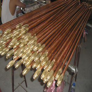 Threaded Copper Bonded Steel Earthing Rod Copper earth Rod